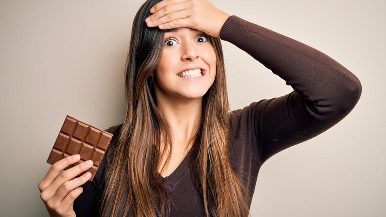 stress eating chocolate