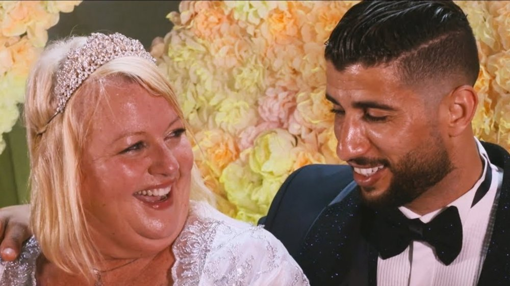 Aladin and Laura from 90 Day Fiance on their wedding day