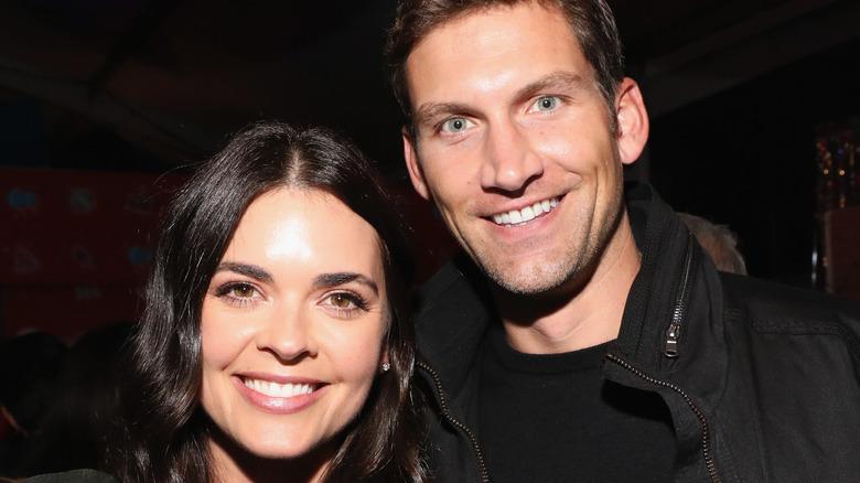 Katie Lee and Ryan Biegel smiling