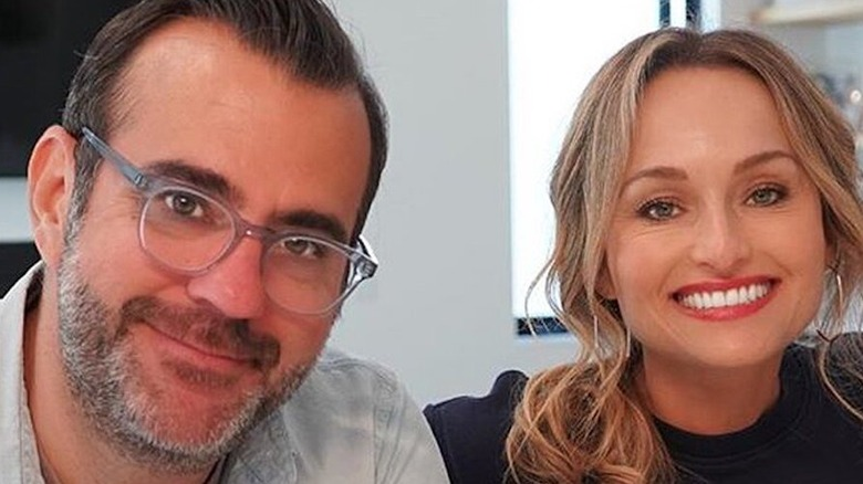 Shane Farley smiles with Giada De Laurentiis