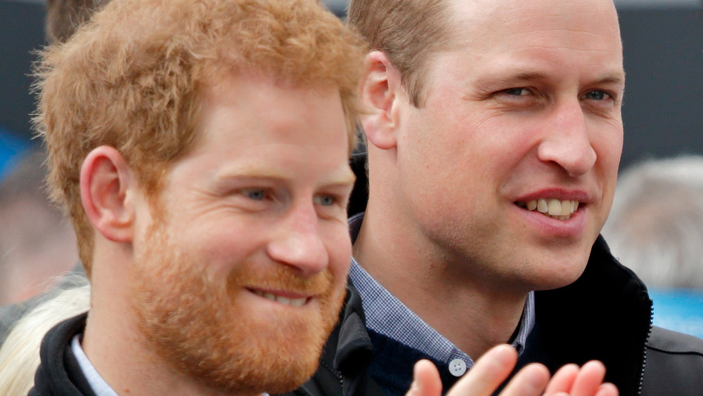Prince Harry and Prince William at an event