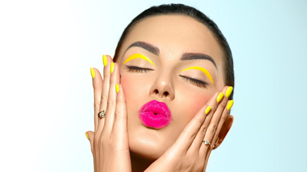 Woman wearing extreme make-up