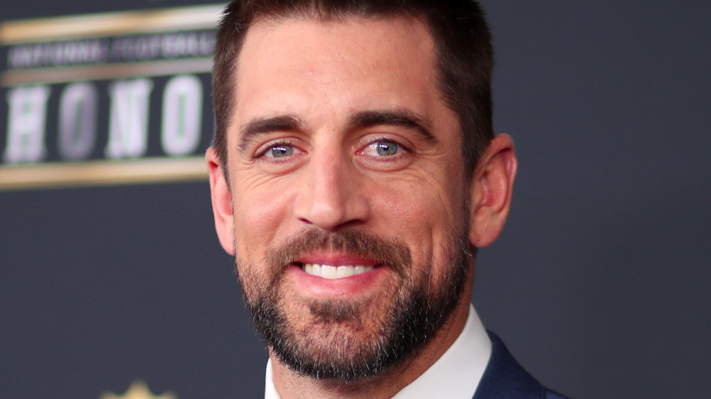 Aaron Rodgers smiling
