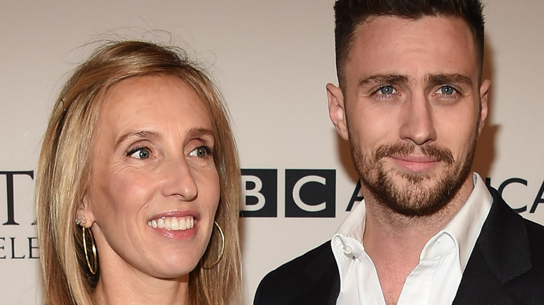 Aaron and Sam Taylor-Johnson at event