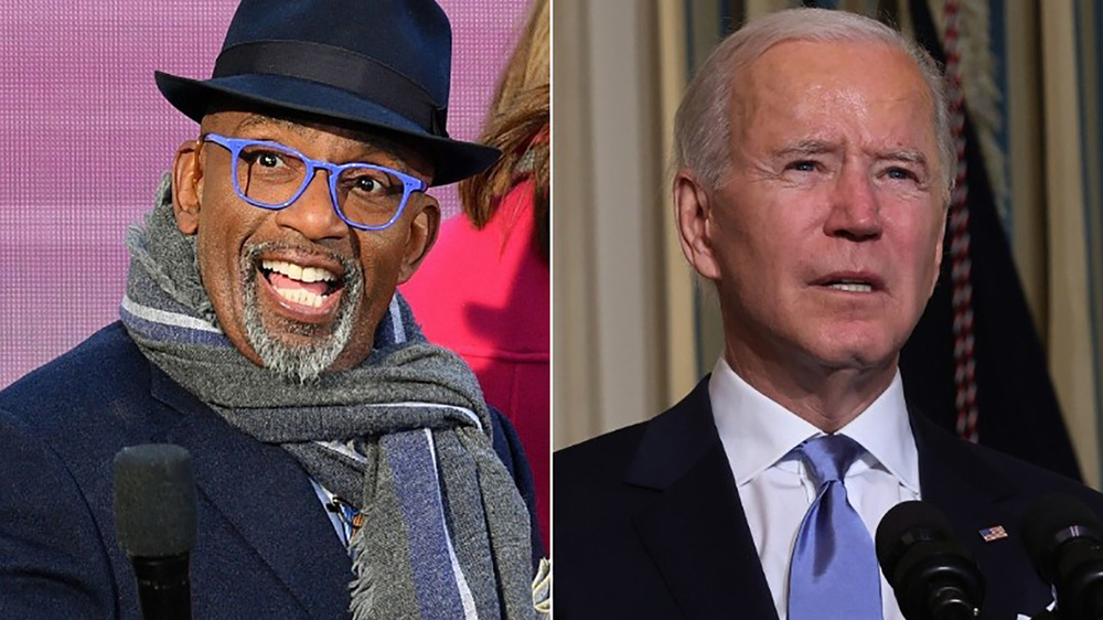 Al Roker with Joe Biden