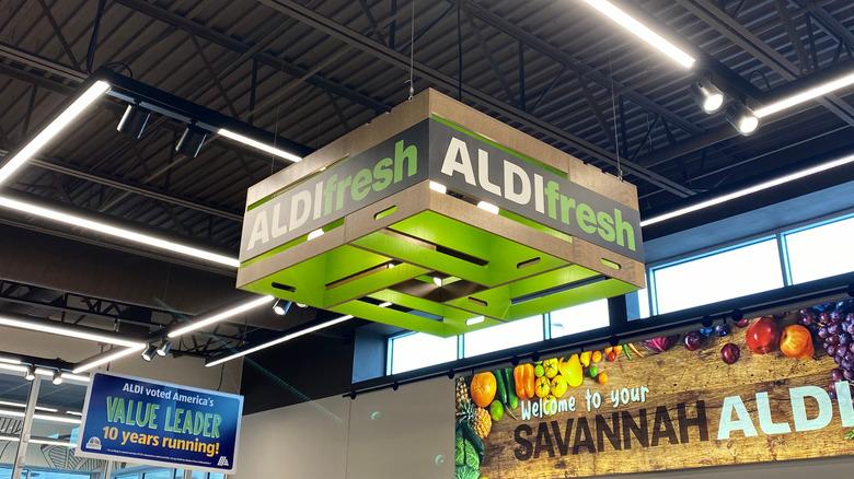 Inside of Aldi grocery store