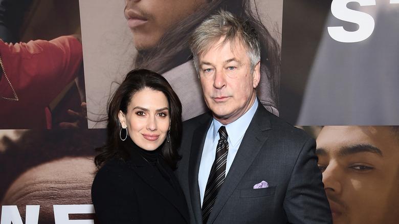 Alec and Hilaria Baldwin posing