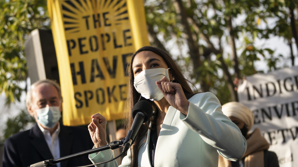 Congresswoman Alexandria Ocasio-Cortez speaking