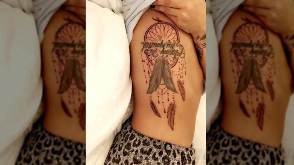 Tatuagem de apanhador de sonhos de Demi Lovato