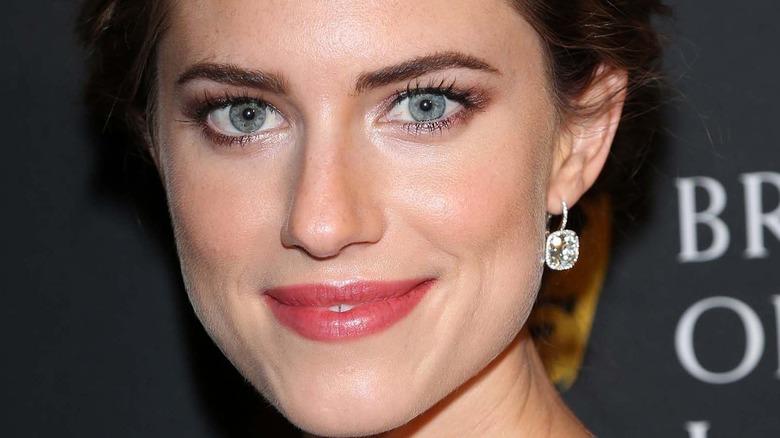 Allison Williams pink lips mascara