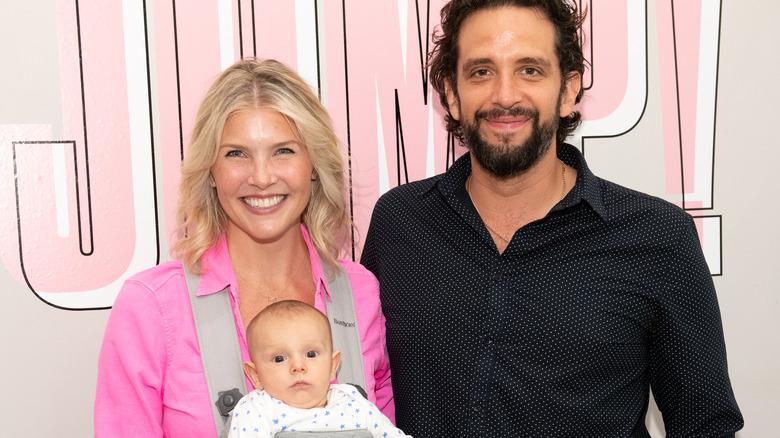 Amanda Kloots, Nick Cordero, and their son Elvis