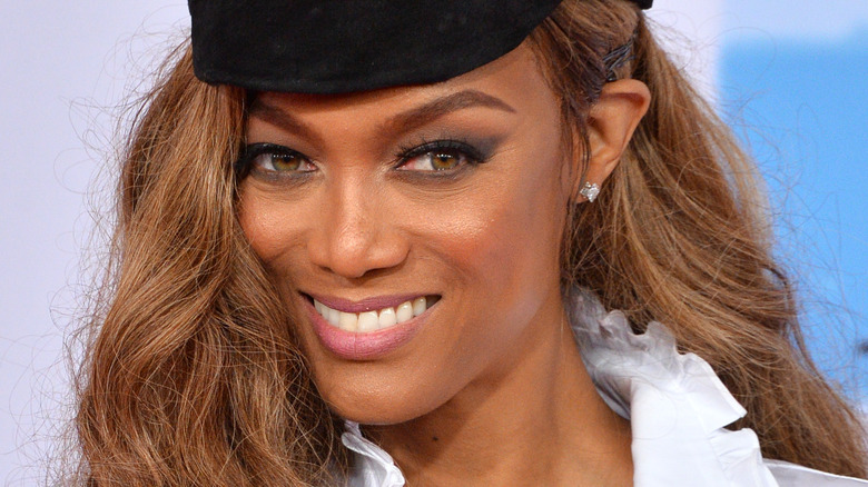 Tyra Banks at an ANTM event