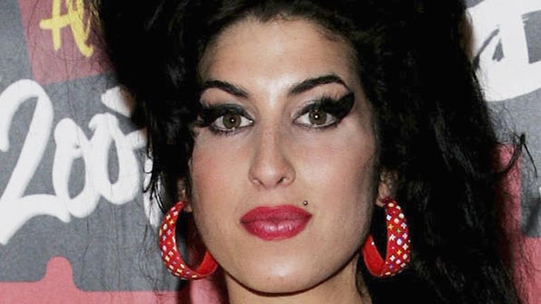Amy Winehouse staring at camera