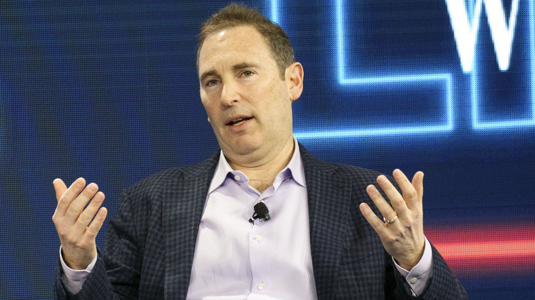 Andy Jassy speaking at Wall Street Journal event