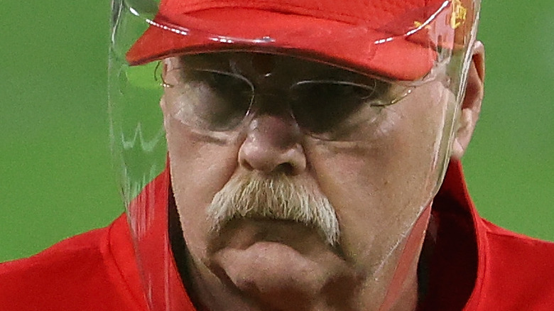 Andy Reid coaching a football game