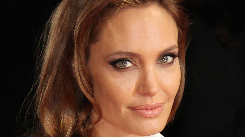 Angelina Jolie poses at an event.