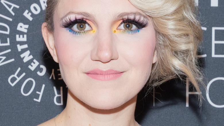 Annaleigh Ashford rainbow eye makeup