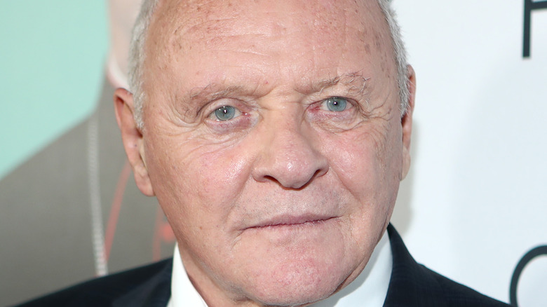 Anthony Hopkins with slight grin