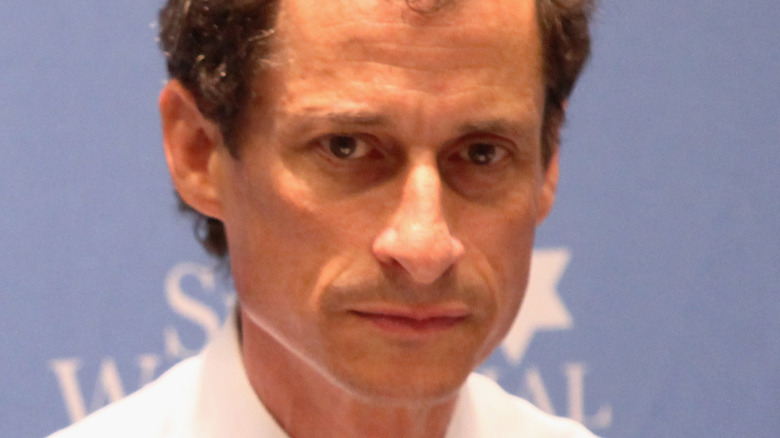 Anthony Weiner with a blank face