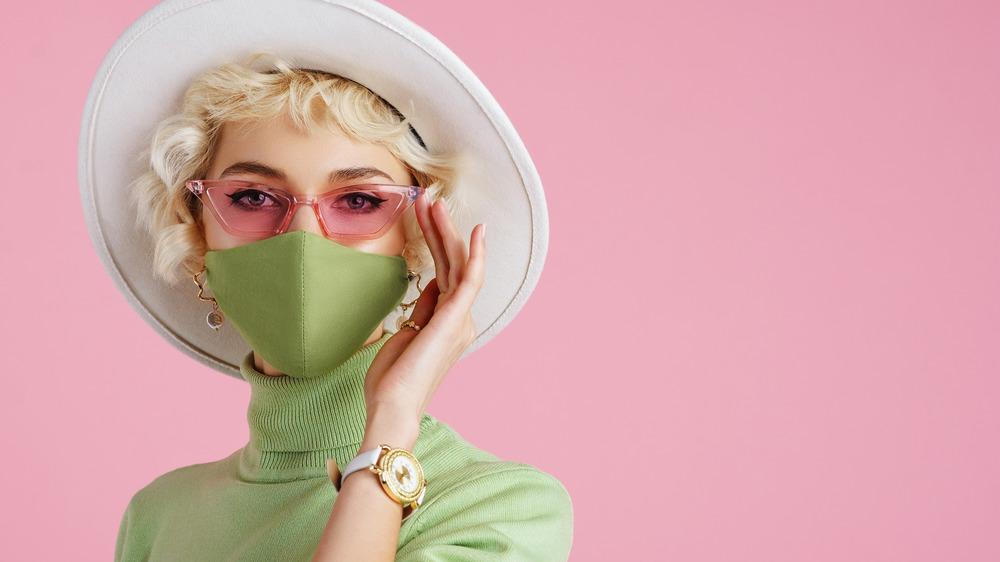 Woman wearing antibacterial clothing