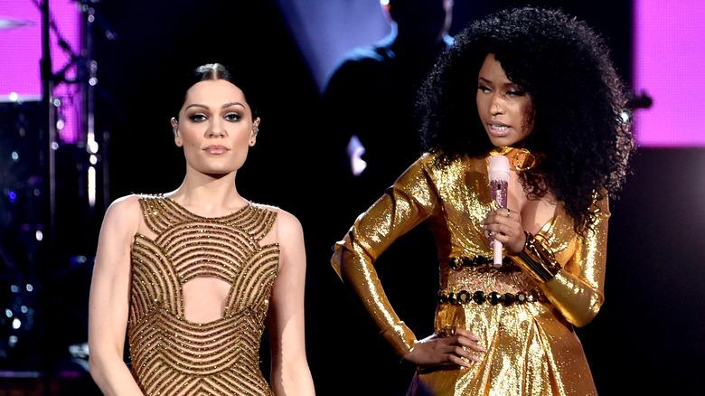 Jessie J and Nicki Minaj performing