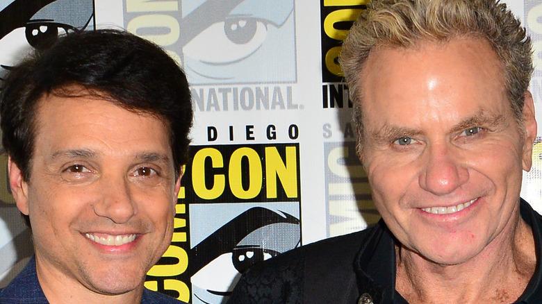 Martin Kove and Ralph Macchio pose together at Comic-Con