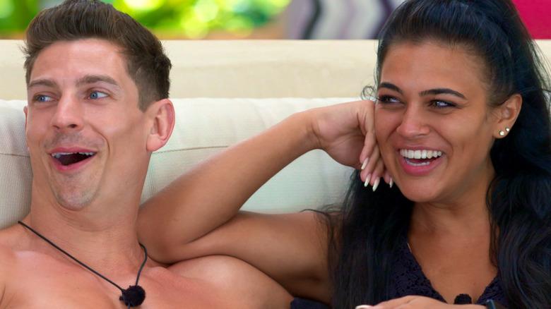 David Birtwistle and Lydia Clyma laughing