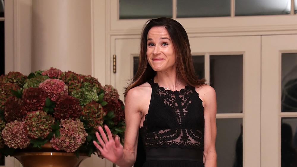 Ashley Biden wearing black dress