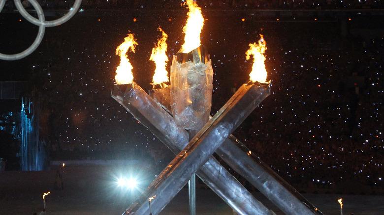 Olympic cauldron 2010 Vancouver