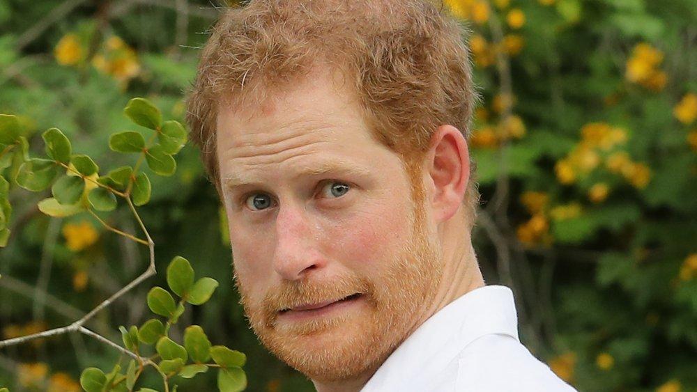 Prince Harry making an awkward face