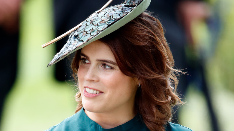 Princess Eugenie looking to the side