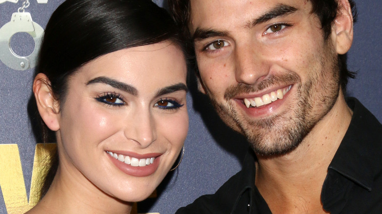 Ashley Iaconetti and Jared Haibon smile together