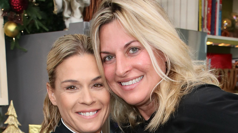 Cat Cora and Nicole Ehrlich together