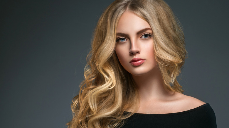 Woman with blonde highlights