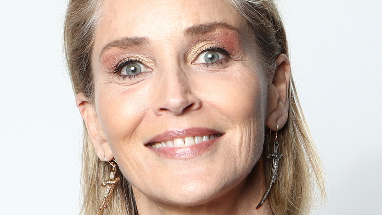 Sharon Stone smiles