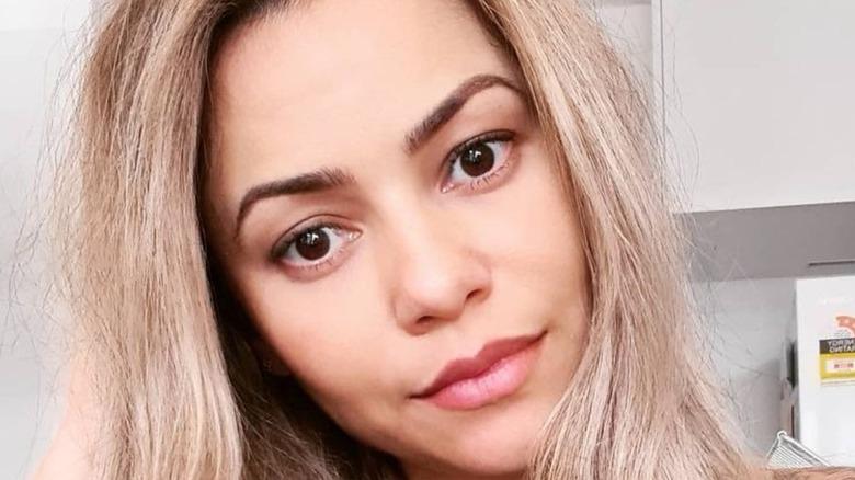 Below Deck star Dani Soares head tilted selfie