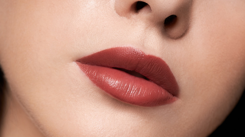 Woman with downturned lips
