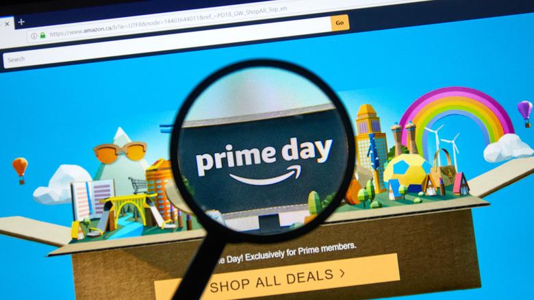 Amazon Prime Day promo page