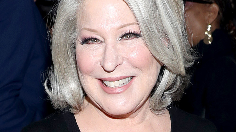 Bette Midler smiling with platinum hair