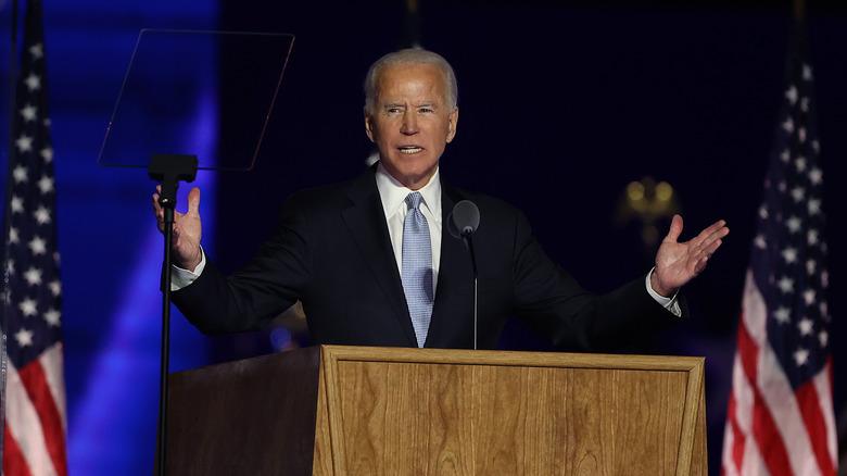 President elect, Joe Biden gives victory speech