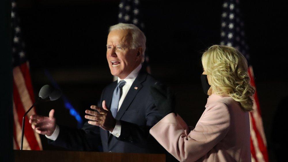 Joe and Jill Biden, election night