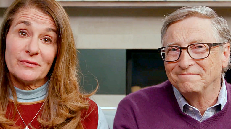 Bill and Melinda Gates on a Zoom chat.
