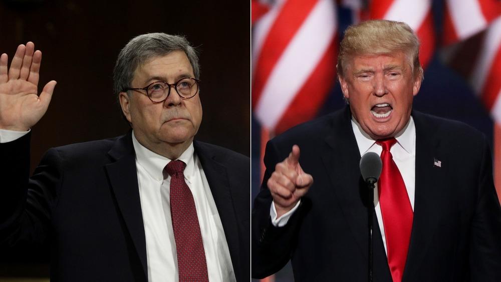 Bill Barr and Donald Trump