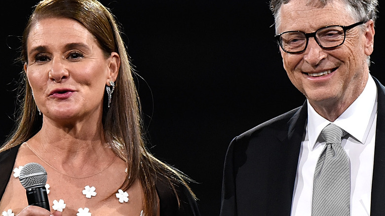 Bill Gates and Melinda French Gates at event