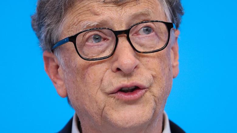 Bill Gates speaking at event