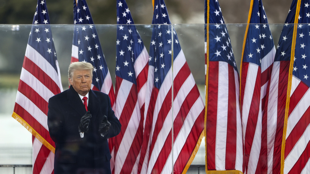 Donald Trump gives Save America speech