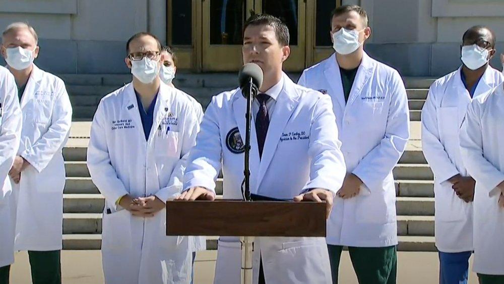 Dr. Sean Conley at Trump health update