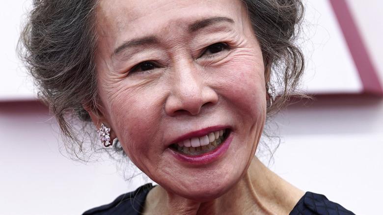 Youn Yuh-Jung smiling Oscars