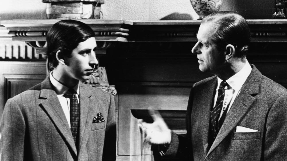 Prince Phillip and Prince Charles