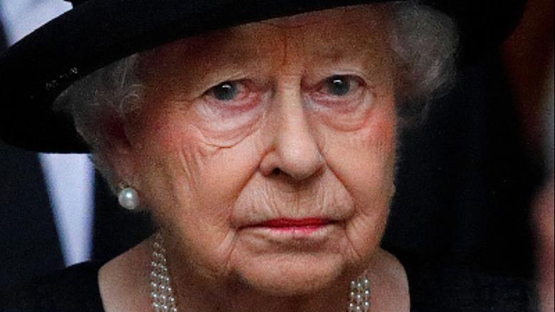 Queen Elizabeth at 2017 funeral